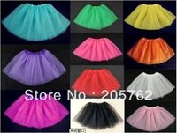 High quality colorful fluffy soft tutu skirt 3-7T Free shipping