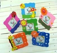 wholesale1800 pcs/lot 6 designs  pcs wooden children kids baby cute photo frame picture fame 9.2*9.2 cm