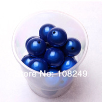 Newest round 20MM royal blue jewelry acrylic miracle beads for chunky bubblegum necklace.Free shipping 120 pieces jewelry beads.