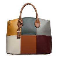 For oppo   brand women's handbag big bag fashion color block handbag vintage messenger bag 2013 9666 - 6
