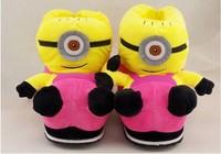 Adult Cartoon Cotton Shoes Despicable Me Slipper Soft Outsole Slipper for Women Men Keep Warm House Shoes