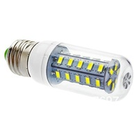 E27 7W 36x5730SMD 550LM 6000k Cool White Light LED Corn Bulb (AC 110-130/AC 220-240 V)
