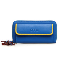 For oppo   cowhide small day clutch female fashion double zipper women's wallet card holder 2013 8158