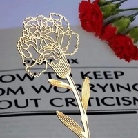 New Elegant Carnation Flower Metal book marker/clip/Bookmark Card/Clips/Stationay-Gift,100pcs/lot,wholesale,Free Shipping