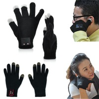 Winter Bluetooth Talking Magic Glove handset For smart phone Tablet Men women Speaker+Microphone Telefingers touchscreen  luva