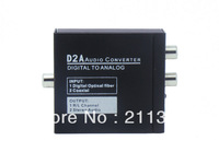 Free shipping  Digital To Analog With 3.5mm Stereo Audio Converter