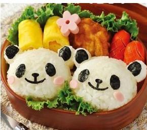 panda rice mould set/ sushi material tools/ Seaweed clip/ Laver embossing device(China (Mainland))