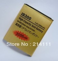 DHL Freeshipping  New 2850mAh High Capacity Gold Replacement Battery for Samsung Galaxy SIII S3 S 3 III I9300 I 9300 50pcs/lot