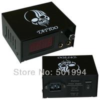 High quality black tattoo skull power supply for tattoo machine tattoo & body art