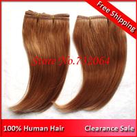 Clearance Sale 6inch Honey Blonde Virgin Brazilian Hair J curl single sewing Hair Extensions