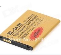 DHL Freeshipping  BL-44JH 2450mAh High Capacity Gold Business Battery for LG MS770 Optimus L7 P705  50pcs/lot