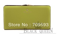 2013 Genuine Leather Ms buckles leather long original wallet wallet han edition lovely lady's leather wallet( 1001)
