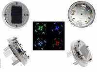 4pcs/lot Stylish Car Vehicle 12 LED Solar Flash Wheel Tyre Tire Lamp Decorate Light