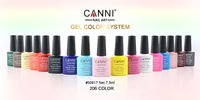 Wolesale 2013 new fashion soak off uv/led  gel,107 color shellac gel polish  ,CANNI#30917