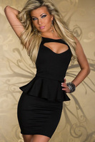 New sexy hollow out fashion dress, night club style women dress, 2 colors, T4.
