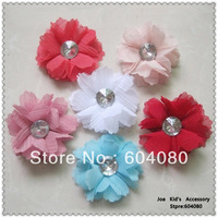 Wholesale Baby Lace Chiffon Flowers Bobby Pin,Children Girl Hair Bows,Kids Hair Accessories,HJ016+Free Shipping