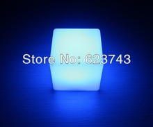 100PCS Free Shipping 10*10*10CM Colorful LED Cube LED bar desk lamp,rechargeable LED glow light Cube light  for Christmas BY DHL(China (Mainland))