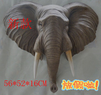 wholesale Cheap Home decoration resin animal head wall mural hanging board lucky elephant fashion