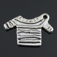 20pcs/lot 23*17mm antique silver plated Sweaters charms