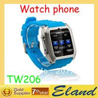 SG post shipping TW206 Watch Cell Phone with Bluetooth Video Hidden Camera Bluetooth Free shipping