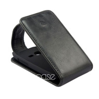 Pouch Leather Skin Flip Case Cover For Samsung Galaxy Pocket Plus S5301 Black Free Shipping