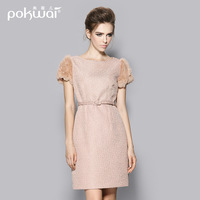 2014 one-piece dress ladies elegant slim woolen one-piece dress
