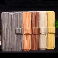 Wood grain leather case for Galaxy note3 N9000 phone cases magnetic folio protective case cover