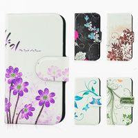 Wholesale,hot sale,Newest colorful graffiti flower leather PU flip case cover for HTC Sensation XE G18 G14 sensation Z710