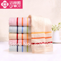 Genuine towel 6 installed fine satin craft natural skin-friendly natural fiber material is soft  Free shiipping