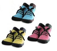 12pairs/lot cotton non slip baby boys socks baby anti-slip socks infant socks  kids floor socks size:9-12/12-15cm