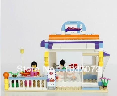 Free shipping Wange Dr.Luck 32212N 264pcs CITY GIRLS house garden 3D DIY plastic building bricks blocks sets Children kids toys(China (Mainland))