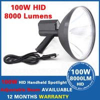 "100W 9"" 10 inch 240mm Hand held HID Xenon Spotlight Handheld Driving Lights Lamp Hunting Search Boat Fishing"