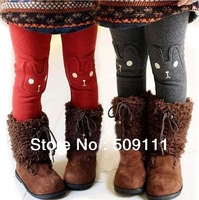 Free shipping Retail Girls' winter Leggings Children's Girls Plus Velvet Cotton Trousers warm pants 1pc TD019