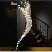 Villa stairs crystal lighting project long chandelier lamp living room lamp Restaurant