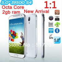 "DHL/EMS free Shipping Cobie S4 I9500 5"" Quad Core MTK6589 phone 1GB RAM 4GB ROM 3g android 4.2 Phone air view/gesture GPS+gifts"