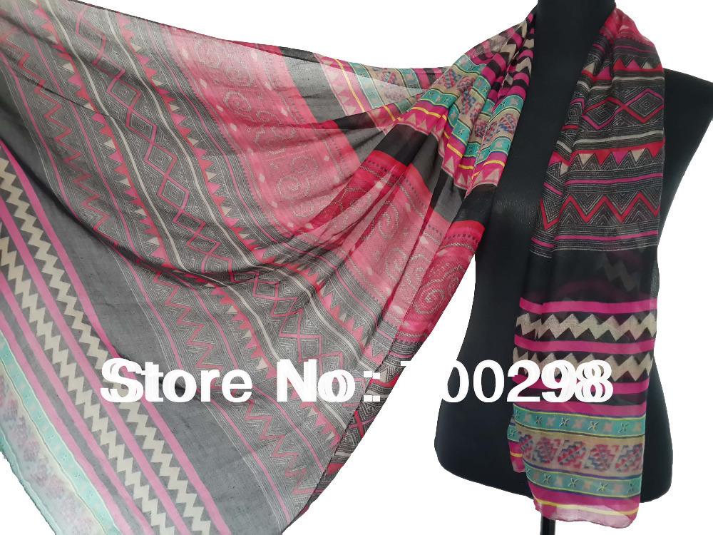 (Express Delivery 30pcs/lot) Fashion Geometric Tribe Bohemian Scarf Shawl Head Wrap Hijab Muslim Scarfs, Free Shipping(China (Mainland))