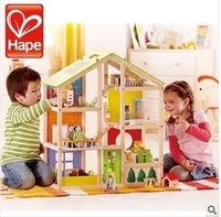 End of a single hape assembling wooden toy four seasons