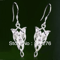 Twilight Star earring The Lord of the Rings Fashion Jewelry Arwen Evenstar Earrings Silver Plated 12pair/lot free shipping