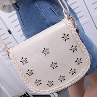 2013 spring and summer women's handbag vivi vintage small fresh cutout knitted one shoulder messenger bag