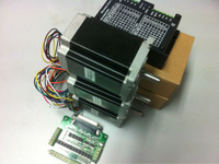 EMS delivery for Russia personal,  NEMA 34 CNC STEPPER MOTOR DRIVER KITS, nema 34 stepper 12Nm x 3 + micsteps driver 80vdc 6A x3