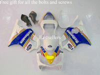 Complete fairing kit fits for CBR600 F4I 01 02 03 2001 2002 2003 CBR 600F4I CBR600F4I 01 02 03 2001-2003 Blue Yellow White