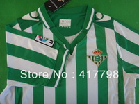 Top Star Thai 13-14 Real Betis Home soccer football jersey green white free shipping wholesale