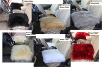 Sheepskin Car Seat Cover 1pcs Auto Cushion for Winter Gray Color Auto Cushion