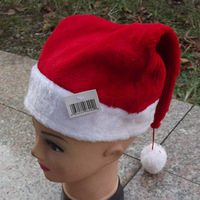 Christmas supplies Christmas decoration santa claus hat quality christmas hat ball plush christmas hat
