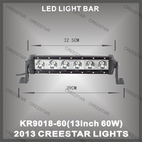 "13"" 60w led light bar cree 4wd led offroad light bar for 4x4 4wd KR9018-60"