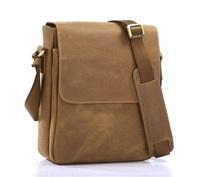 Free Shipping High Quality Promotion Brown JMD Crazy Horse Leather Men Messenger Bags Cross Body Shoulder Bag Sling bag #7192B