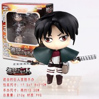 anime Attack on Titan Levi action figure toys 10cm PVC doll in colour box free shipping 0410