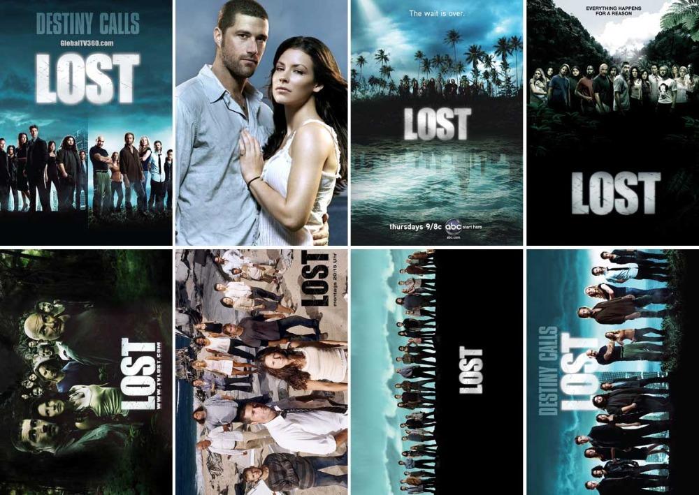 [Free shipping] 8PCS Postcard LOST IMDB TV Series Movie Postcards Greeting Card Gift Card(China (Mainland))
