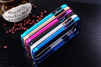 New CROSS LINE retail packaging ultra thin light 0.7MM slim metal Aluminum bumper Case For Samsung Galaxy S4  i9500