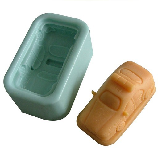 Free shipping New Soft Silicone Mold Car Cake Decorating Mould Fondant Clay(China (Mainland))